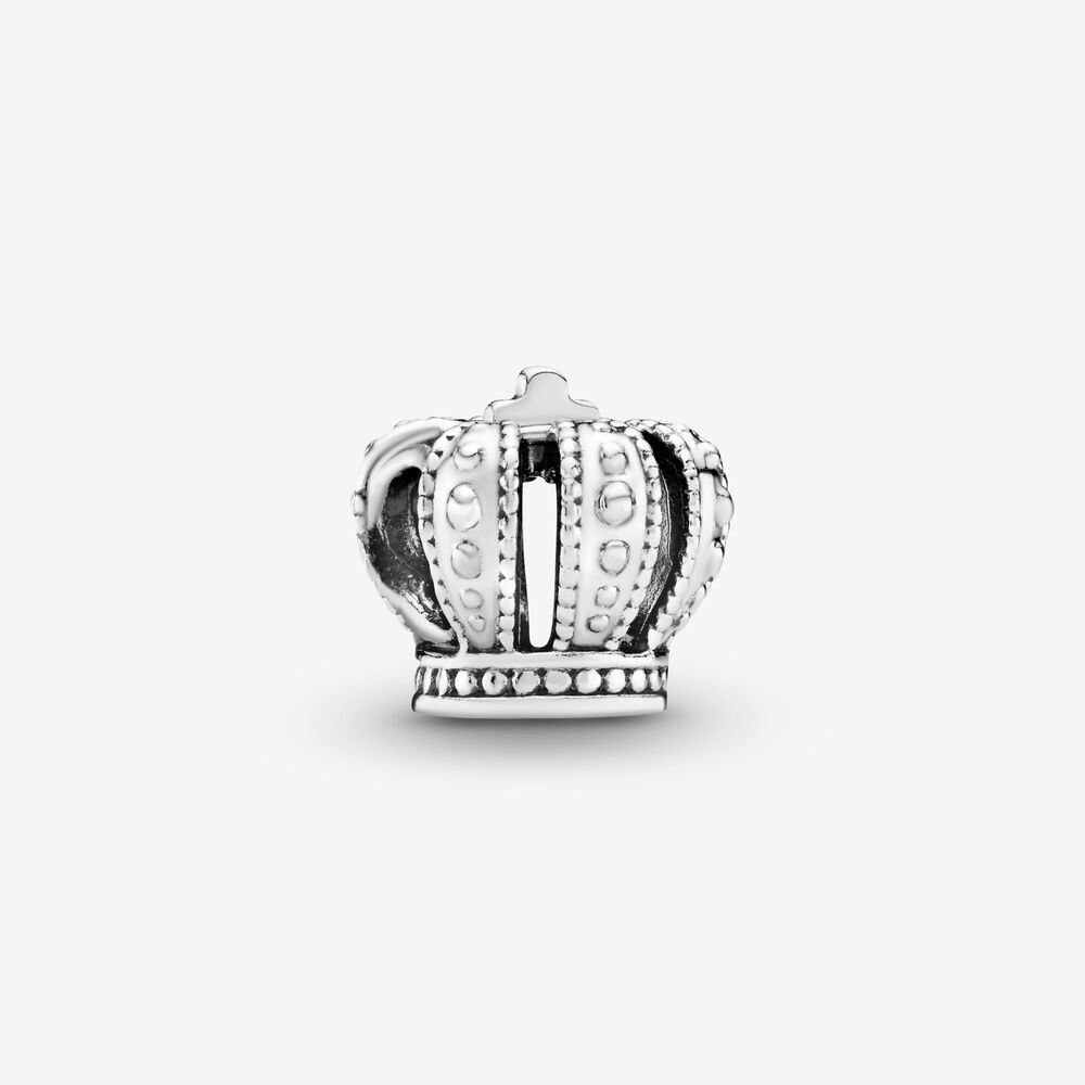 Regal Crown Charm Sterling Silver Pandora Us