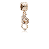 Interlocking Love Dangle Charm, PANDORA Rose™ & CZ
