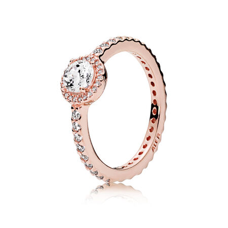 Classic Elegance Ring, PANDORA Rose™ & Clear CZ