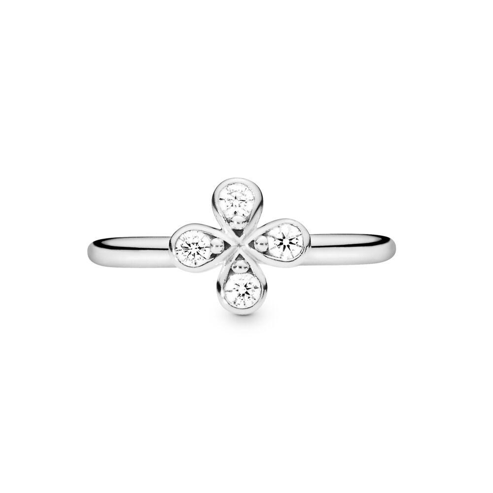 65ad5045f Four-Petal Flower Ring, Sterling silver, Cubic Zirconia - PANDORA -  #197967CZ