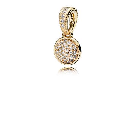 Dazzling Droplet Pendant, 14K Gold & Clear CZ