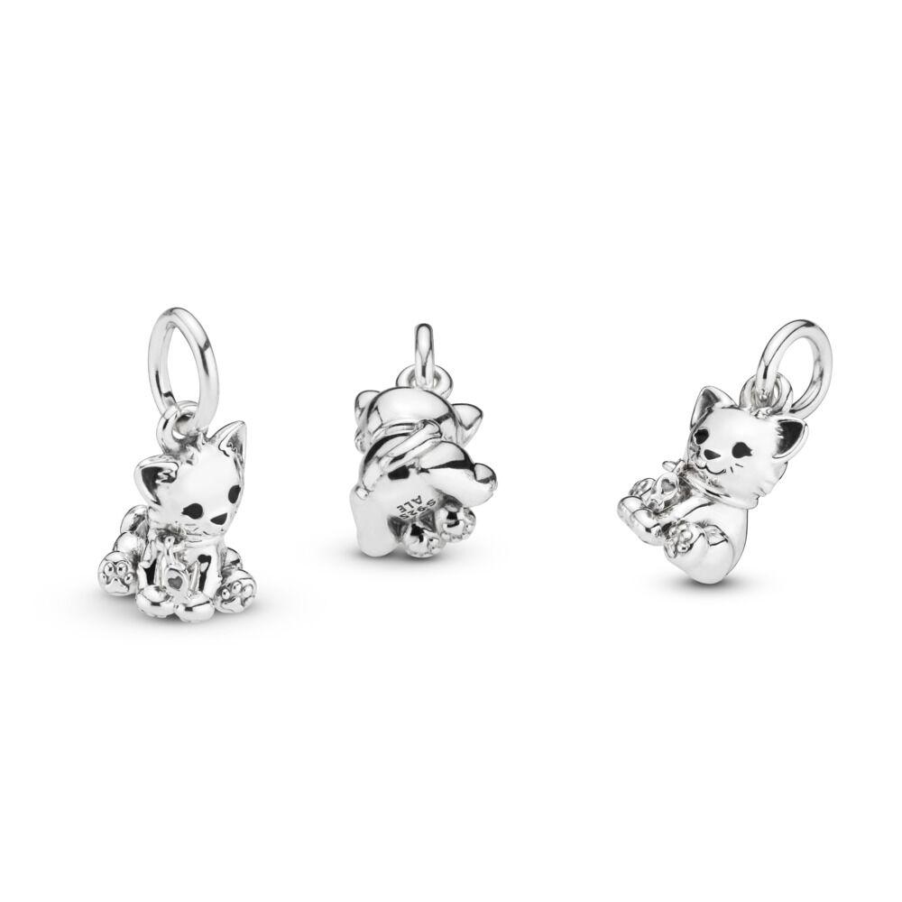 00d7260c5 Sweet Cat Dangle Charm, Sterling silver, Enamel, Black - PANDORA -  #798011EN16