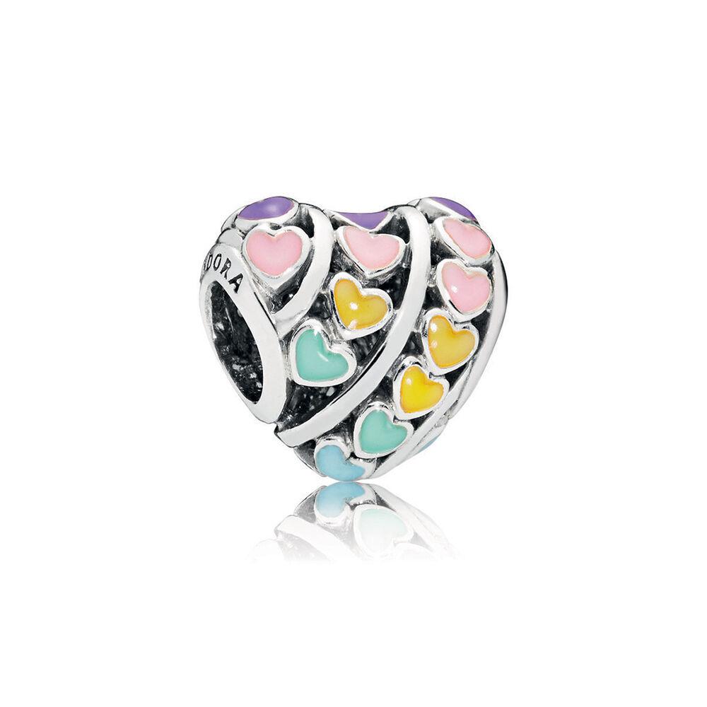 Multi Color Hearts Charm Mixed Enamel Pandora Jewelry Us