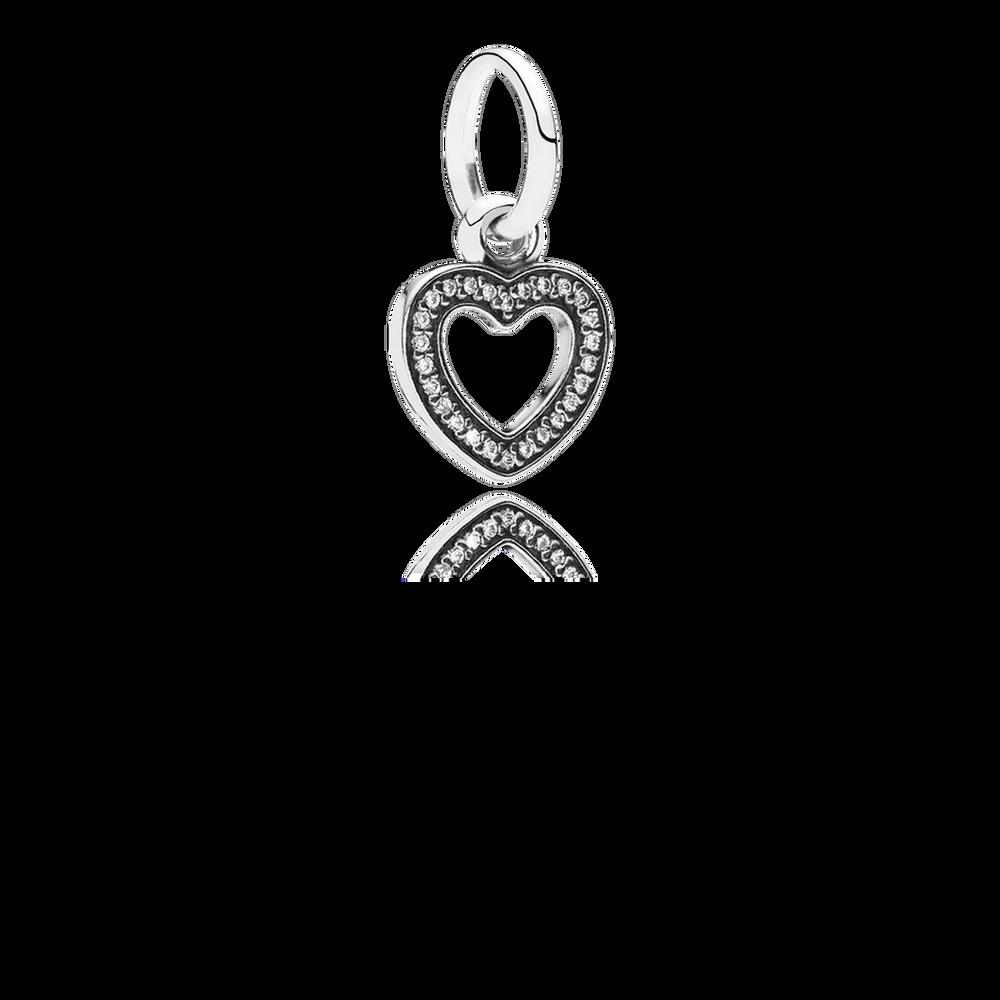 Symbol Of Love Dangle Charm Clear Cz Pandora Jewelry Us