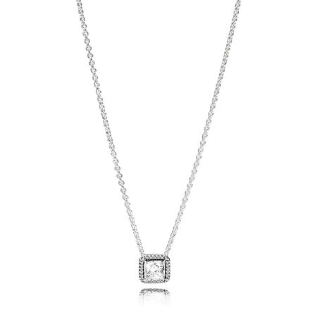 Timeless elegance necklace clear cz pandora jewelry us timeless elegance necklace clear cz aloadofball Image collections