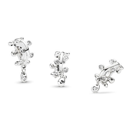 Chandelier Droplets Dangle Charm, Clear CZ