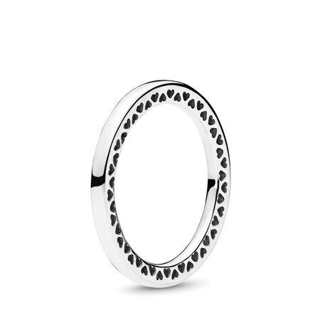 Classic Hearts of PANDORA Ring, Sterling silver - PANDORA - #196237