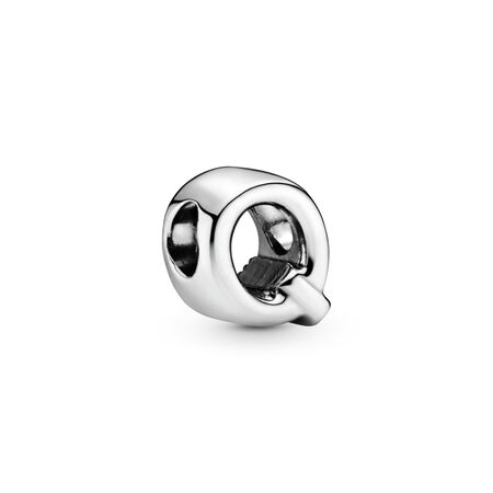 Letter Q Charm, Sterling silver - PANDORA - #797471