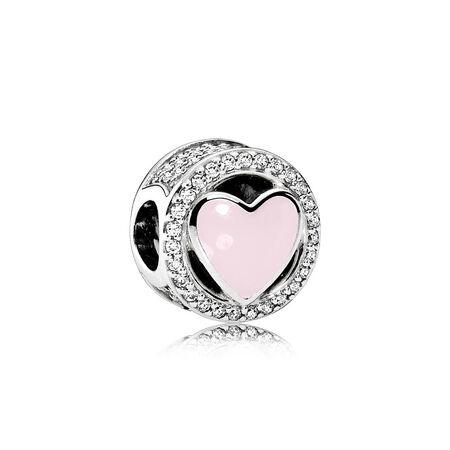 Wonderful Love, Soft Pink Enamel & Clear CZ