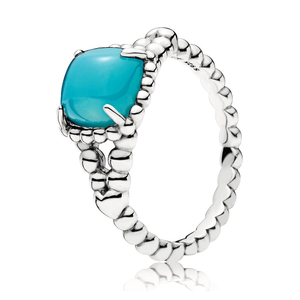 214f616c0 Vibrant Spirit Ring, Scuba Blue Crystal, Sterling silver, Blue, Crystal -  PANDORA