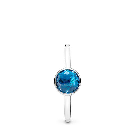December Droplet Ring, London Blue Crystal