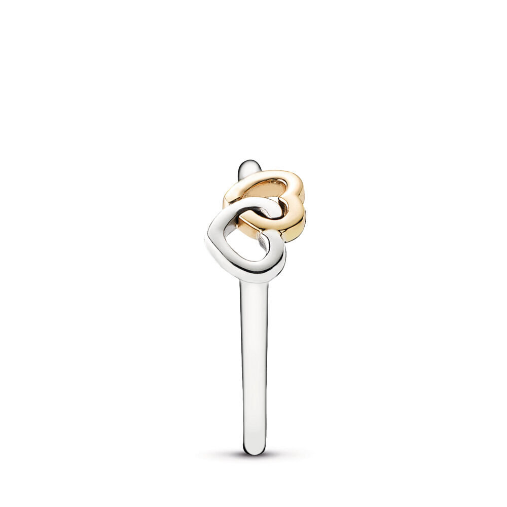 ee4c5bac0 Heart To Heart Ring, Two Tone - PANDORA - #190927
