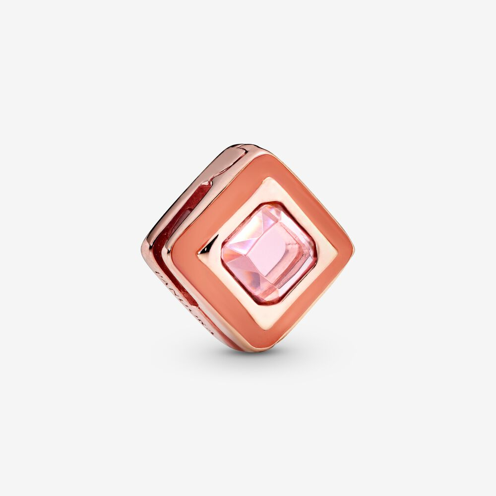Pink Square Clip Charm