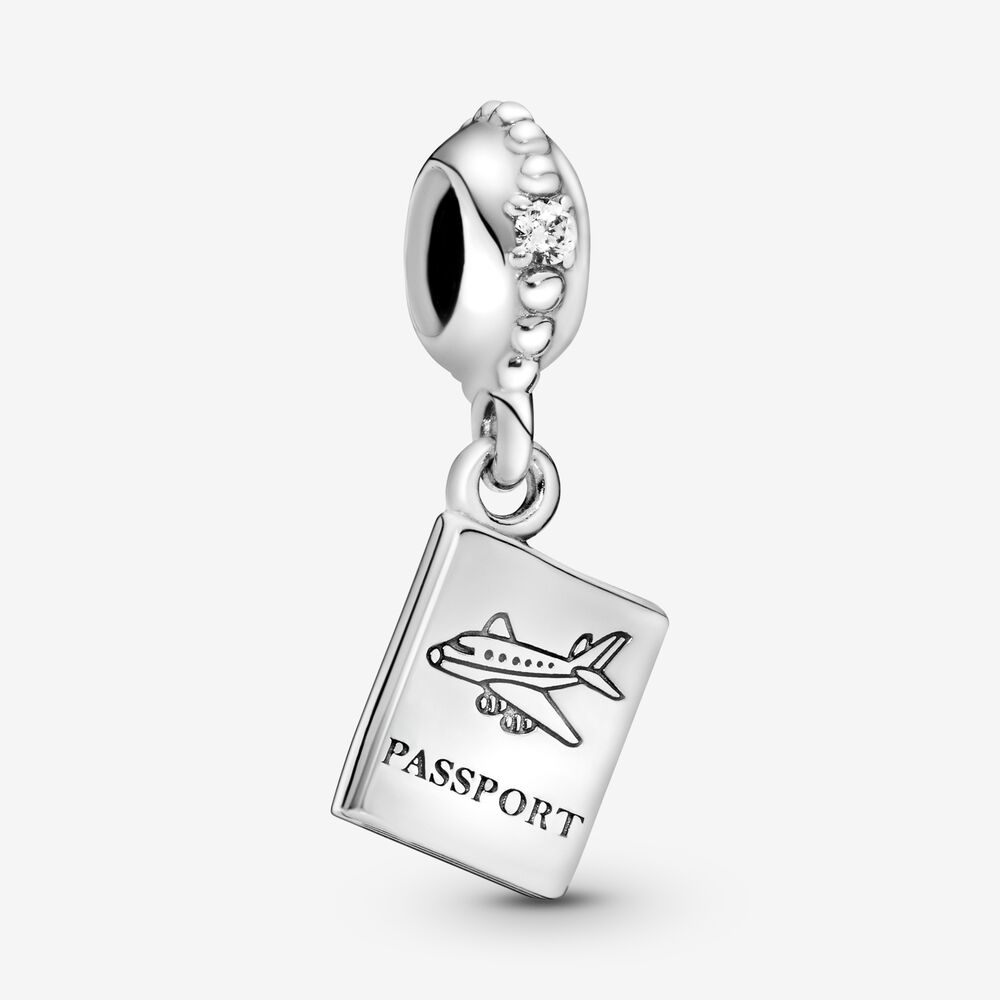 Adventure Awaits Dangle Charm with Clear CZ | Sterling silver ...
