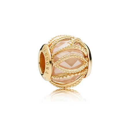 Intertwining Radiance Charm, PANDORA Shine™ & Golden Colored CZ