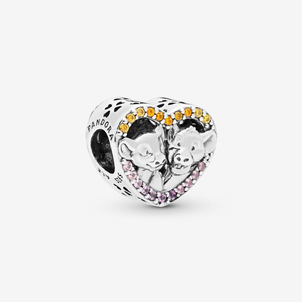 Disney The Lion King Simba and Nala Heart Charm | Sterling silver ...