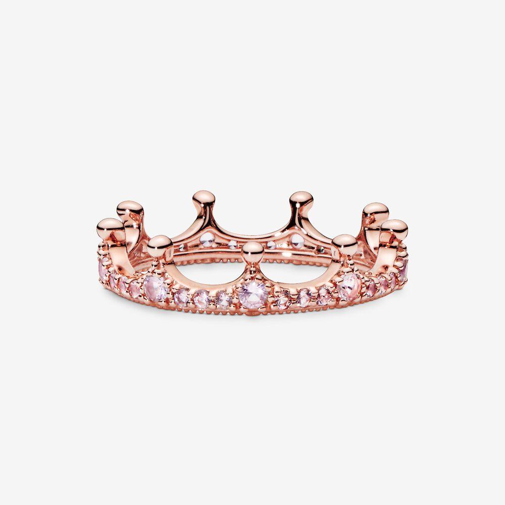 Pink Enchanted Crown Ring In Pandora Rose Rose Gold Pandora Us