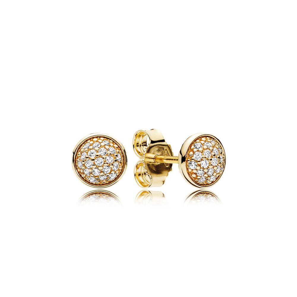 elegance earrings gold en pandora clear cz stud jewelry radiant us and