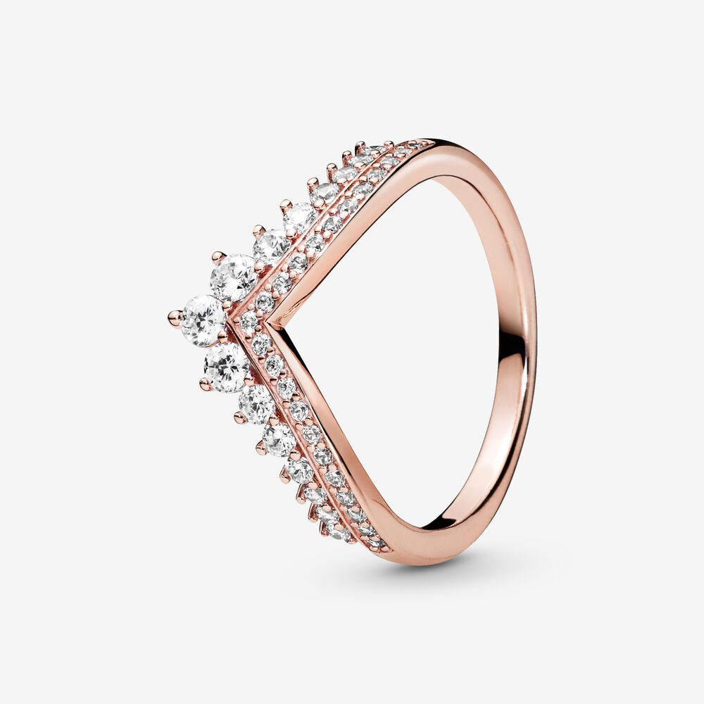 Princess Wishbone Ring | Rose gold plated | Pandora US