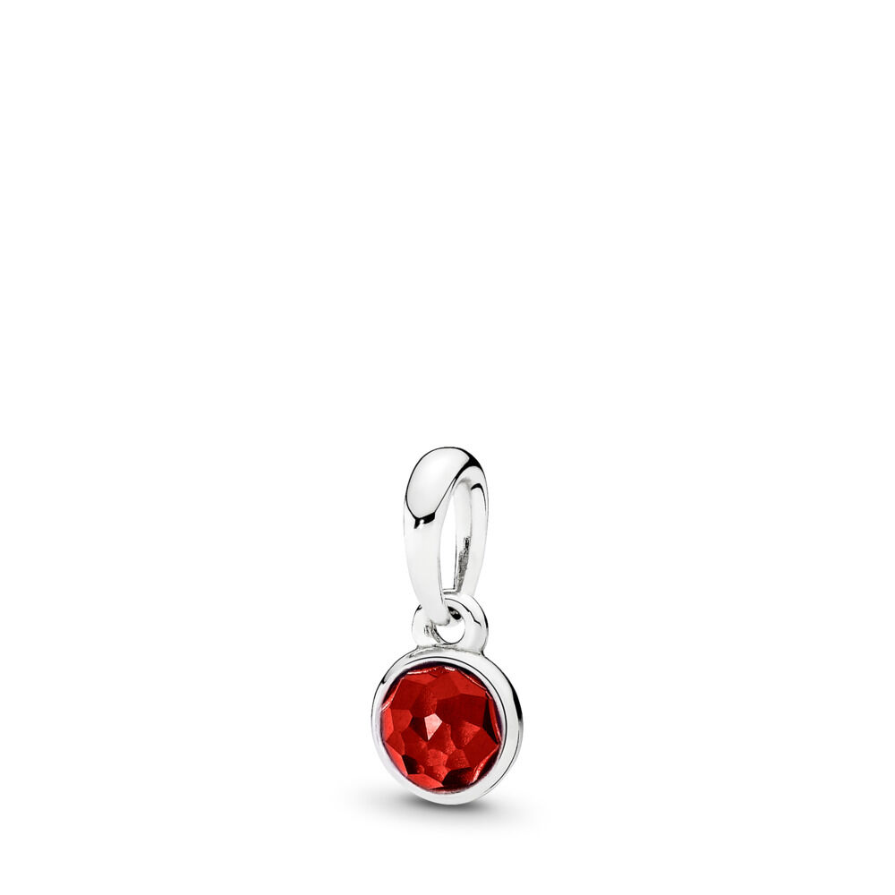 202c2bc7e July Droplet Pendant, Synthetic Ruby, Sterling silver, Red, Synthetic Ruby  - PANDORA