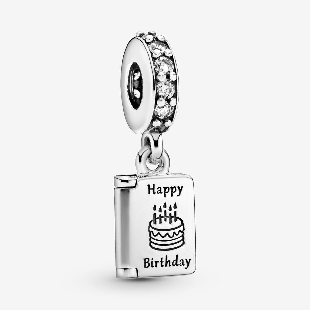 Birthday Card Dangle Charm | Sterling silver | Pandora US