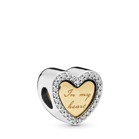 In My Heart Charm, PANDORA Shine and sterling silver, Cubic Zirconia - PANDORA - #767606CZ