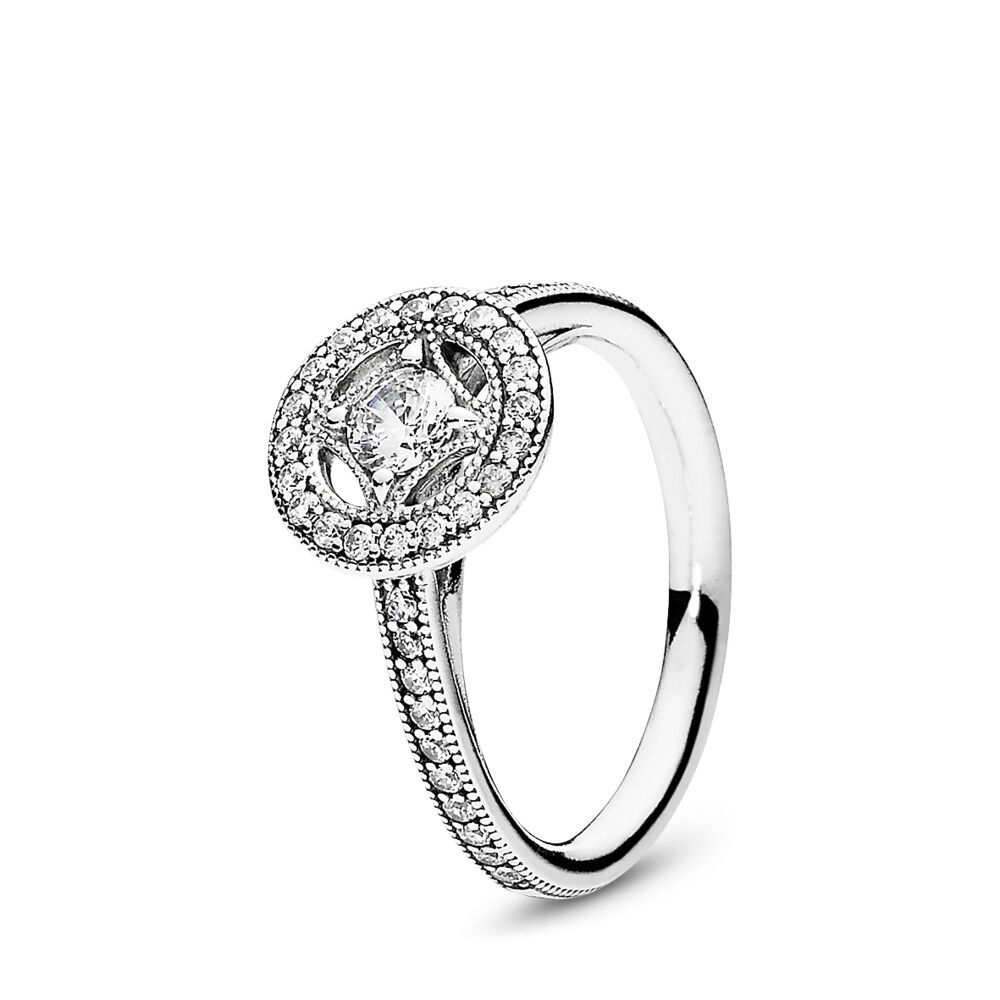 c429c4f72 Vintage Allure Ring, Clear CZ, Sterling silver, Cubic Zirconia - PANDORA - #