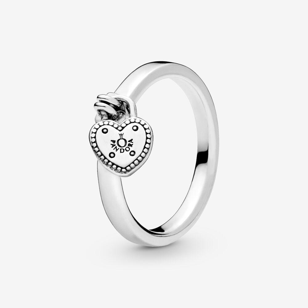 Heart-Shaped Padlock Ring