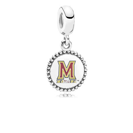 University of Maryland Dangle Charm, Mixed Enamel