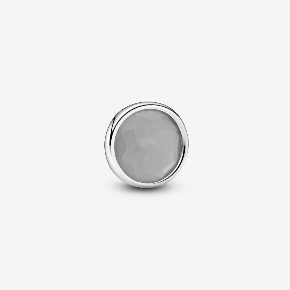 Grey June Birthstone Locket Element