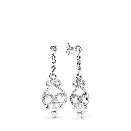 2ce75a51ff97a Swirling Chandeliers Drop Earrings, Clear CZ Sterling silver, Mixed ...