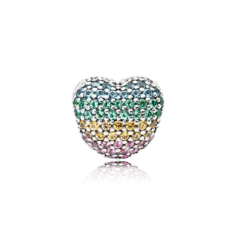 Open My Heart Pav 233 Clip Multi Color Cz Pandora Jewelry Us