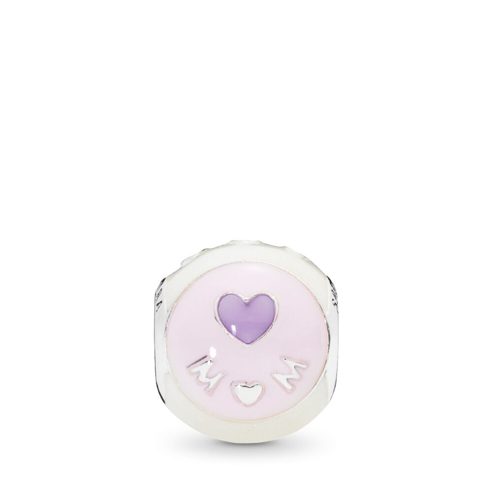 Love Mom Charm Mixed Enamel