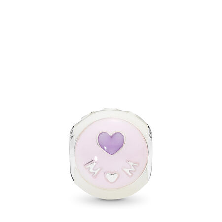 Love Mom Charm, Mixed Enamel
