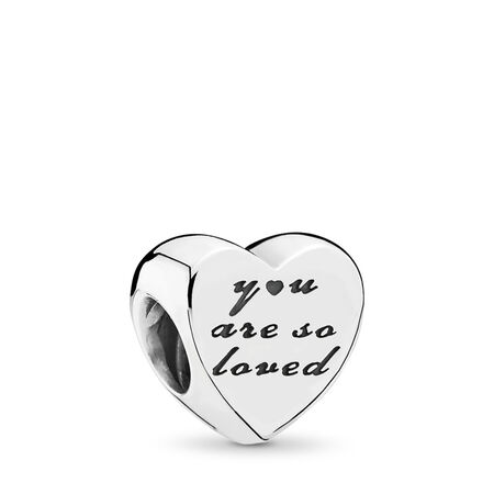 You Are So Loved Charm, Sterling silver - PANDORA - #791730