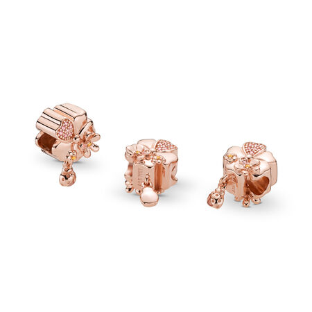 Wildflower Meadow Charm, PANDORA Rose™, Blush Pink Crystal & Pink Enamel