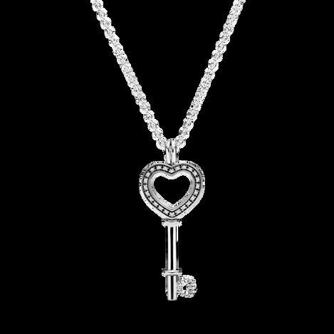 Pandora Lockets Heart Key Necklace
