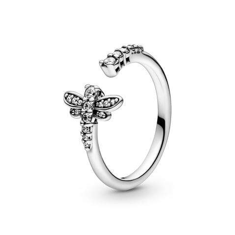 Sparkling Dragonfly Open Ring - FINAL SALE