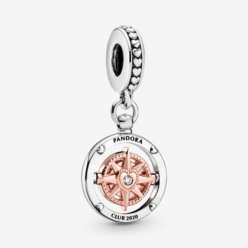 Pandora Club 2020 Compass Dangle Charm