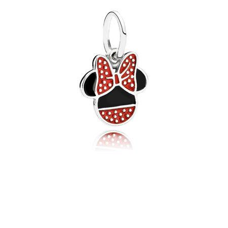 Disney, Minnie Icon Dangle Charm, Mixed Enamel, Sterling silver, Enamel, Black - PANDORA - #791460ENMX