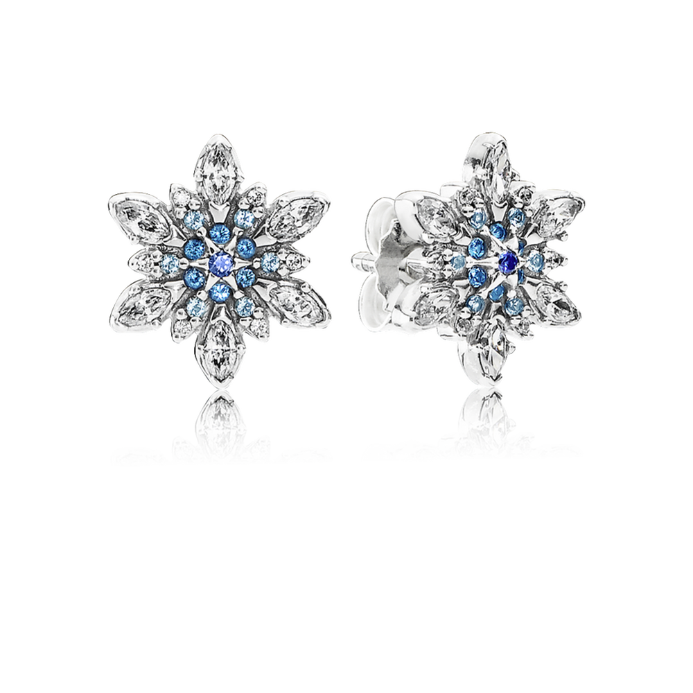 Pandora 290590NBLMX Crystallised Snowflake Stud Earrings fPhqy8tO