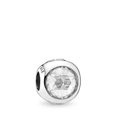 Radiant Droplet Charm, Clear CZ