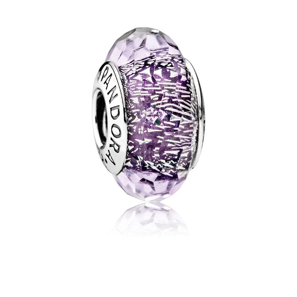 Dark Purple Shimmer Charm Murano Glass Pandora Jewelry Us