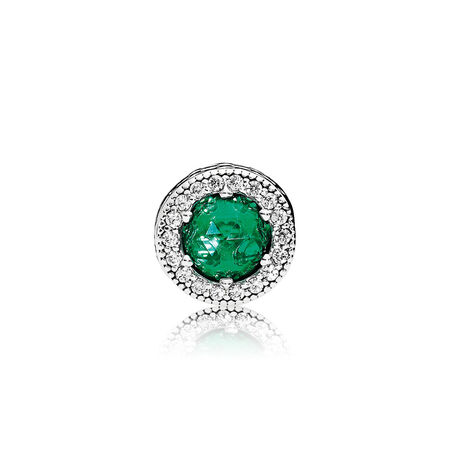 OPTIMISM Charm, Royal Green Crystals & Clear CZ
