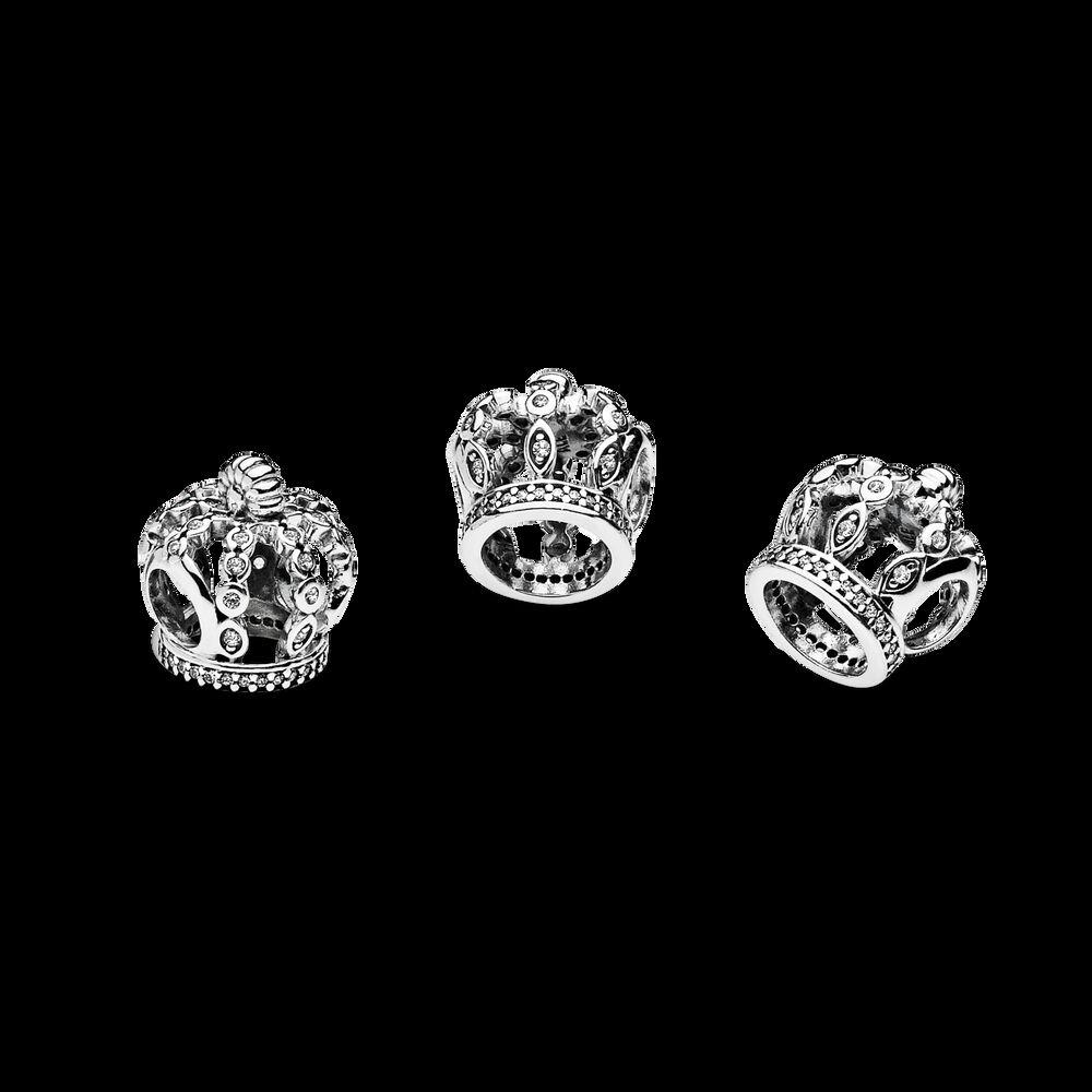 Fairytale Crown Charm Clear Cz Pandora Jewelry Us