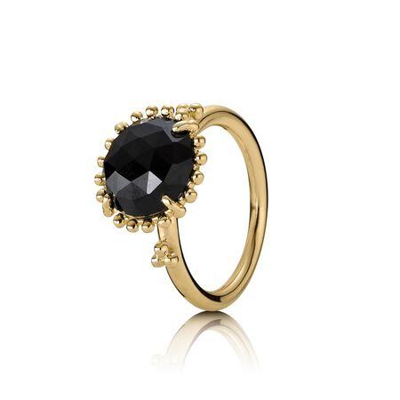 Shining Star Ring, Black Spinel