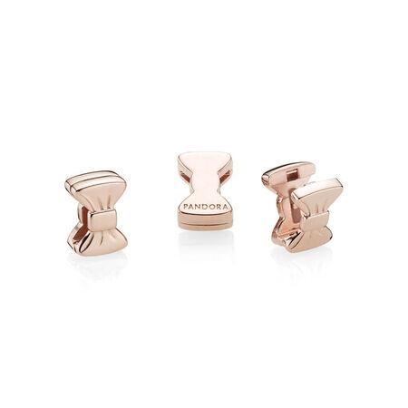 PANDORA Reflexions™ Sweet Bow Clip Charm, PANDORA Rose™