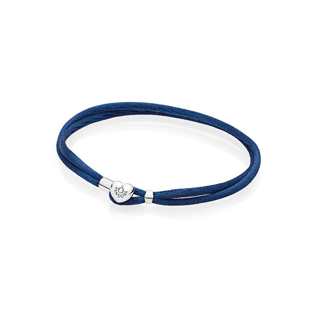 PANDORA Fabric Cord Bracelet, Black 590749CBK-S