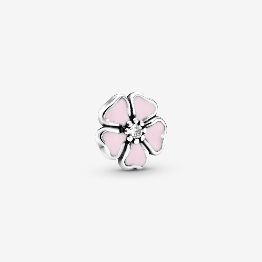 Pink Cherry Blossom Flower Locket Element
