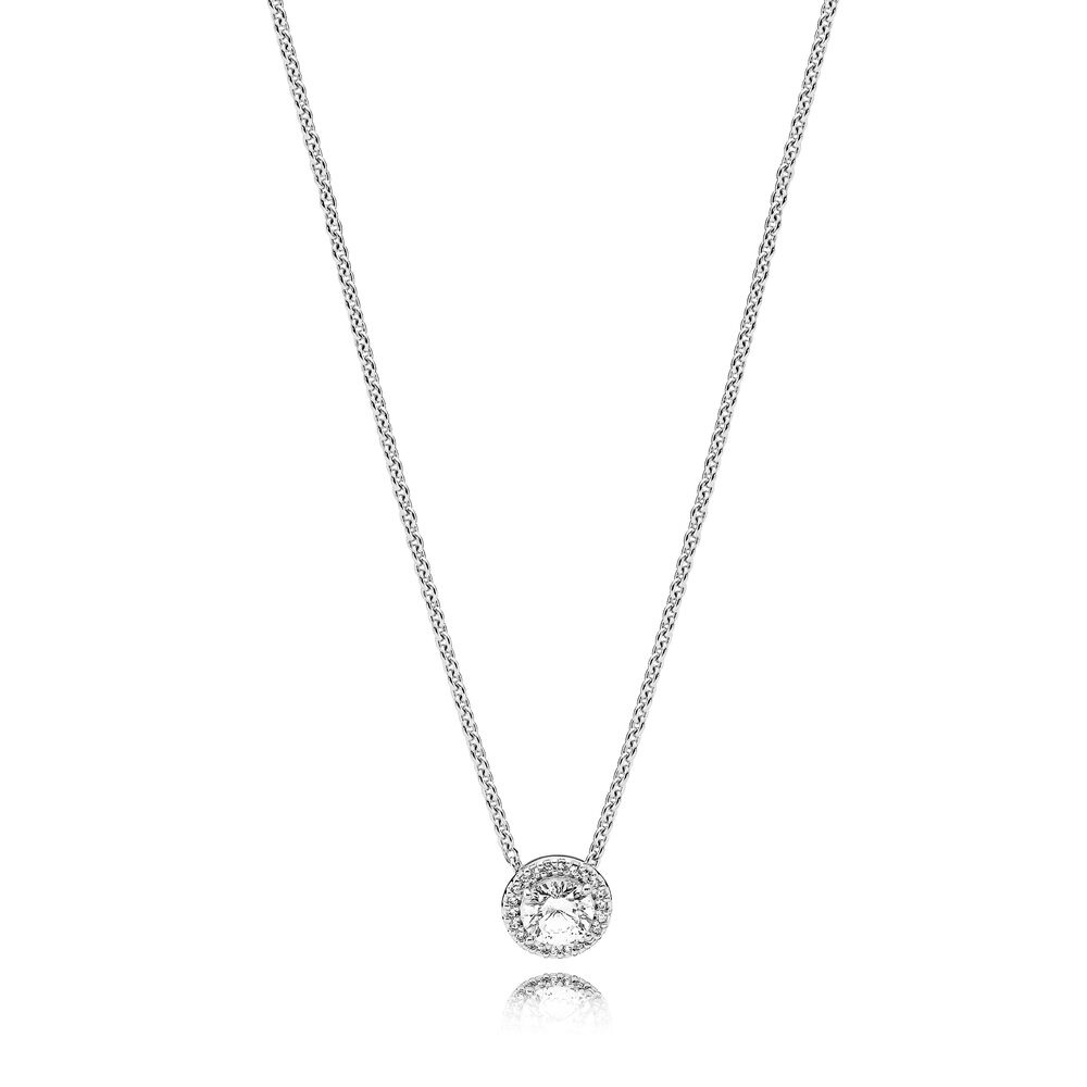 Classic Elegance Necklace Clear Cz Pandora Jewelry Us